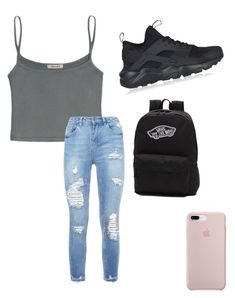 """"""""""" by cuteblondie0411 on Polyvore featuring NIKE and Vans"""