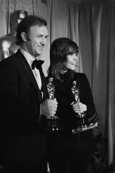 "Gene Hackman and Jane Fonda are awarded for their performances in ""The French Connection"" and ""Klute"", respectively, at the 1972 Acadamy Awards. #oscar #acting #film"