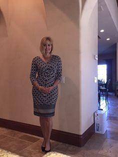 Stitch Fix # 6 Donna Morgan Masona Twist Front Shift Dress https://www.stitchfix.com/referral/3695775