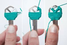 DIY: Yarn Wrapped Key Covers part 4