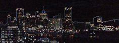 #Day22 of #30daysofcreativity Pittsburgh in Neon