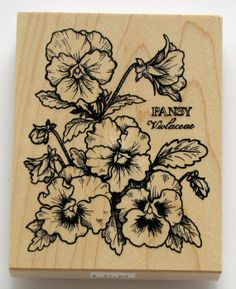 PSX Pansy Flower Rubber Stamp 1999 Never Used by catSCRAPPIN