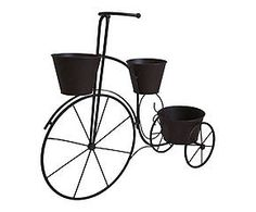 Vélo porte-plante fer, marron - L68 39€