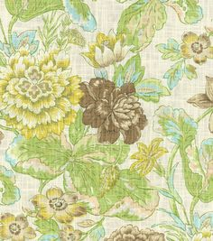 """Waverly Print Fabric 54"""" - Sonnet Sublime/Mineral"""