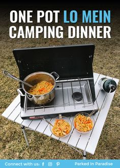 One Pot Lo Mein recipe to cook at the campsite. This dish requires just one pot and a campfire or single burner. Single Burner Propane Stove, Propane Stove Top, Camping Stove, Camping Meals, Camping Tips, Oven Dishes, Boneless Chicken Breast, One Pot, Vegetarian