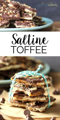 The buttery goodness of Saltine Toffee is irresistible. This treat recipe is so simple, yet so delicious. Try it and see how fast it disappears – it's kinda addictive - I see why they call it Christmas Crack!