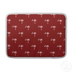 SC Palmetto & Crescent Moon - Red MacBook Pro Sleeve