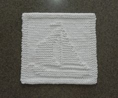 White SAILBOAT Baby Wash Cloth or Knit by AuntSusansCloset on Etsy, $6.50