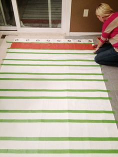 Painting stripes on Curtains @ DIY Home Ideas