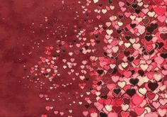 Beige Pink and Red Valentines Day Heart Texture Background Design