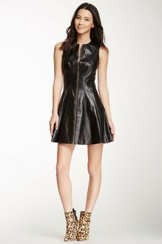 Cynthia Steffe Gemma Zip Front Faux Leather Dress by Non Specific on @HauteLook