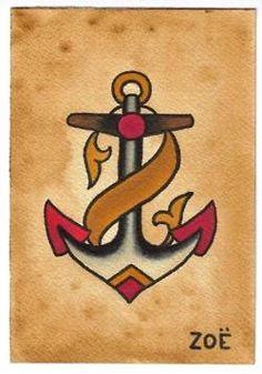 Traditional Anchor Tattoo Flash | KYSA #ink #design #tattoo