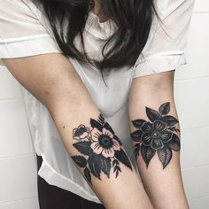 elbow tattoo idea - white/clear flower can have a bright color instead- mb yellow
