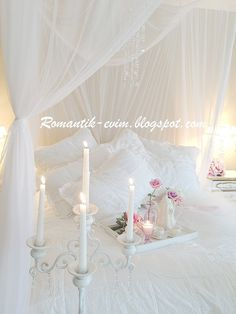 Shabby chic bedroom, interior design white pastel pink......Just Breathtakingly Beautiful.
