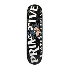 Primitive Raging Bull Skate Deck- Black - http://shop.dailyskatetube.com/?post_type=product&p=730 -  Primitive Skateboarding 'Raging Bull' group deck. Colour: Black.   -