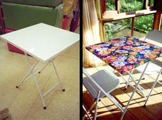 Mesa Metal, Ideias Diy, Outdoor Furniture, Outdoor Decor, New Homes, House Design, Table, Dyi, Home Decor