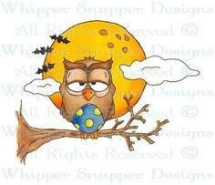 """""""Owl""""ween - Halloween Images - Halloween - Rubber Stamps - Shop"""