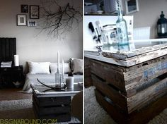 Repurposed window into a DIY coffee table...