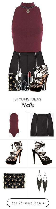 """""""you lured me in, I couldn't sense the pain"""" by mkf95x5sos on Polyvore featuring Torn by Ronny Kobo, Yves Saint Laurent, C MPL T UNKN WN, GUESS, NARS Cosmetics and Charlotte Olympia"""