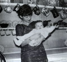Sylvia Plath with daughter, Frieda