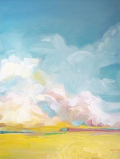 Landscape Art Print by Emily Jeffords #painting