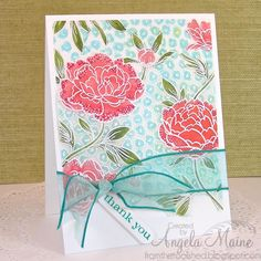 CC493 & CAS287 Colors on Vellum by Arizona Maine - Cards and Paper Crafts at Splitcoaststampers