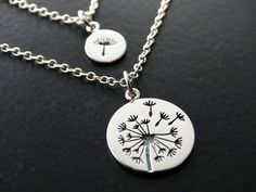 Mother Daughter Necklace Set Jewelry by MyTinyStarShining on Etsy