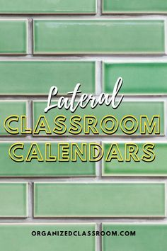 Lateral Classroom Calendars Have you ever used a lateral calendar with your students? How did it go and would you do it again? Leave a comment below to share any tips you might have for working with this type of calendar! Also, stop by and grab the template! Calendar Organization, Classroom Organization, Classroom Management, Calendar Skills, Calendar Time, Teacher Freebies, Classroom Freebies, First Grade Teachers, New Teachers