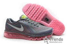 promo code ca788 0da0c Shop Discount Nike Air Max 2015 Women Running Shoes - Deep Gray Pink Super  Deals black ...