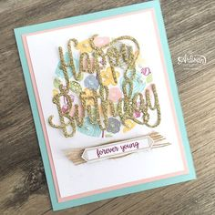 In The Cat Cave: Happy Birthday Gorgeous Birthday Cards For Women, Handmade Birthday Cards, Happy Birthday Cards, Stampin Up Katalog, First Birthday Favors, Happy Birthday Gorgeous, Cat Cave, Up Girl, Stamping Up