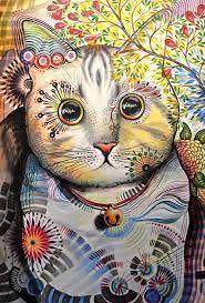 Resultado de imagem para pintura mulher em casa com gato