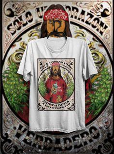 T-SHIRT-MAGLIETTA-DOPE-JESUS-WEED-DRUGS-TEQUILA-DRINK-TATTOO-HAPPINESS-UOMO