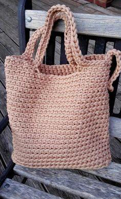 Knitted Bags/ Rope Bags/ Handmade Bags/ Chrochet by NataNatastudio