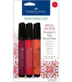 Faber-Castell Stamper's Big Brush Pen Set @Design Memory Craft