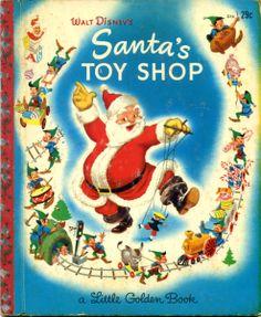 Santa's Toy Shop, illustrations by the Walt Disney Studio adapted by Al Dempster, Golden Press, 1950, J edition