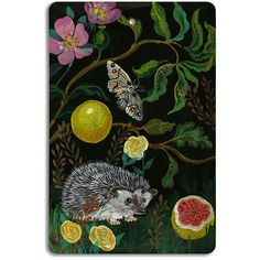 Avenida Home Nathalie Lete - Cutting Board - Hedgehog ($23) ❤ liked on Polyvore featuring home, kitchen & dining, kitchen gadgets & tools, multi and french bread board