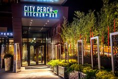 The seasonal american dining restaurant serving comfort food and handcrafted cocktails at the new Pike & Rose development in North Bethesda, Maryland. City Perch, North Bethesda, Cool Places To Visit, Maryland, Restaurant, Bar, Kitchen, Cooking, Diner Restaurant
