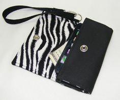 Cell Phone Wallet   Zebra
