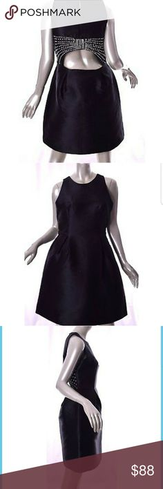 Nwt Kate Spade rhinestone bow open back dress Positively gorgeous black dress with fit and flare shape from Kate Spade. Open back with rhinestone bow. Brand new, originally $449. Just doesn't look right on my figure, steal it from me for way under retail price! kate spade Dresses