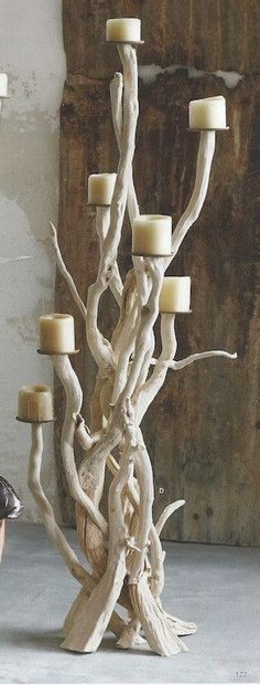 ROOST DRIFTWOOD CANDELABRA                                                                                                                                                      More #WoodworkCreations