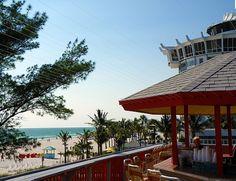 Crabby Bill's, St. Pete Beach, we had dinner sitting right here.