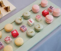 Mini macarons and hand-decorated petit fours give the guests a sugar boost to keep the party going.