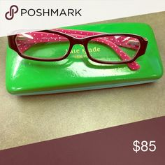 Kate Spade eyeglasses Authentic including case. Glasses Worn only a couple times and look new, case has some scratches. Prescription lenses in them (R+0.50,L-0.75) kate spade Accessories Glasses