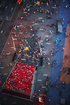 New York City - June 19, 2013: Overhead view of Times Square