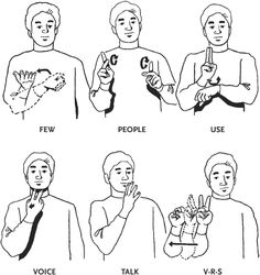 sign language words / site with answers to many questions