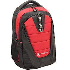 @Overstock - Keep your computer protected with this padded 16-inch laptop backpack. It is constructed of ballistic nylon for added durability, and the shoulder-straps adjust for a perfect fit. It has several interior pockets to keep you organized. http://www.overstock.com/Luggage-Bags/Wenger-SwissGear-The-Anthem-Red-16-inch-Laptop-Backpack/6287183/product.html?CID=214117 $63.99
