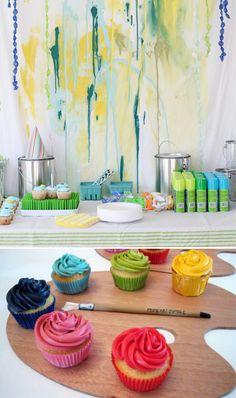 Paint Party Love This Idea Art Birthday Themes Third