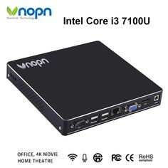 Find More Mini PC Information about Mini PC Intel Core i3 7130U Dual core with Fan HDMI VGA Dual display Windows/Linux Desktops Computer DDR3 8G SSD 256G Nettops,High Quality Mini PC from Vnopn Official Store on Aliexpress.com