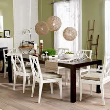 white chairs dark table