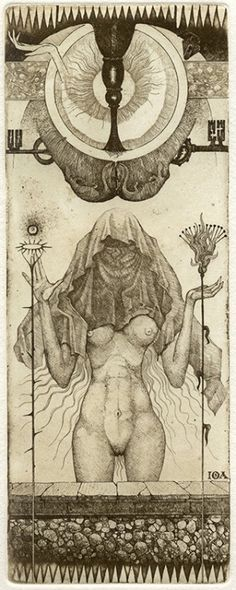 In the world of tarot, the cards can be works of art unto themselves. One rare and stunning deck is the IONA Tarot, designed and printed by artist Giona Fiochi, who produced only 12 complete decks … Art Carte, Occult Art, Art And Illustration, Oracle Cards, Tarot Decks, Sacred Geometry, Tarot Cards, Graphic, Dark Art
